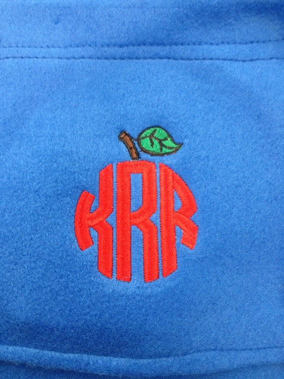 Embroidered Fleece Scarf, Monogrammed  Scarf, Teacher Gift, Nurse/Doctor Gift, Personalized Fleece Scarf, Valentine's gift