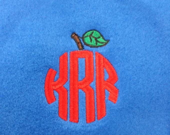 Embroidered Fleece Scarf, Monogrammed  Scarf, Teacher Gift, Nurse/Doctor Gift, Personalized Fleece Scarf, Valentine's gift