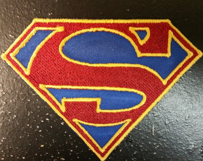 Female Superhero Inspired Embroidered Patch, Superhero Inspired Embroidered Patch, Comic book hero patches, S Patch