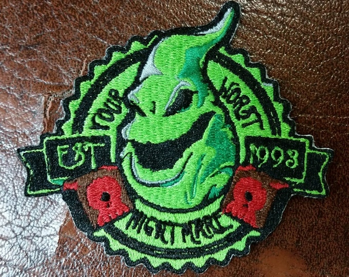 Boogie Man Embroidered Patch, Scary Halloween Ghost Iron On Patch, Your Worst Nightmare Patch, Fandom Embroidered Patch, Ghost Iron On Patch