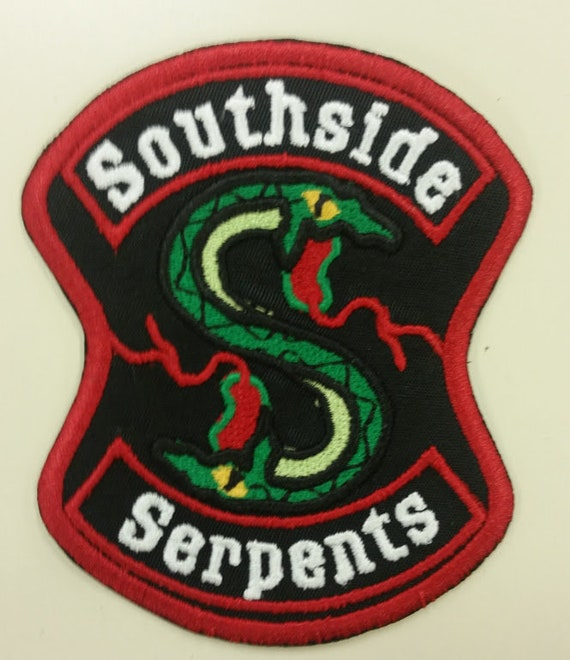 Snake Embroidered Patch, TV inspired Iron on Patch, Serpent patch