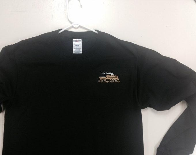 Train Enthusiasts Long Sleeve Black T Shirt Model Train Lover