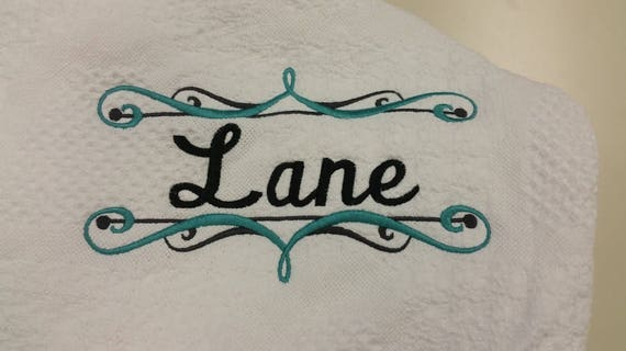 Elegant Personalized Embroidered Afghan,  Custom Afghan Embroidered Gift, Wedding or Housewarming Afghan
