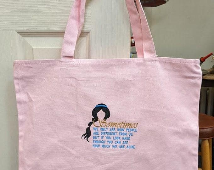 Embroidered Princess oversize bag