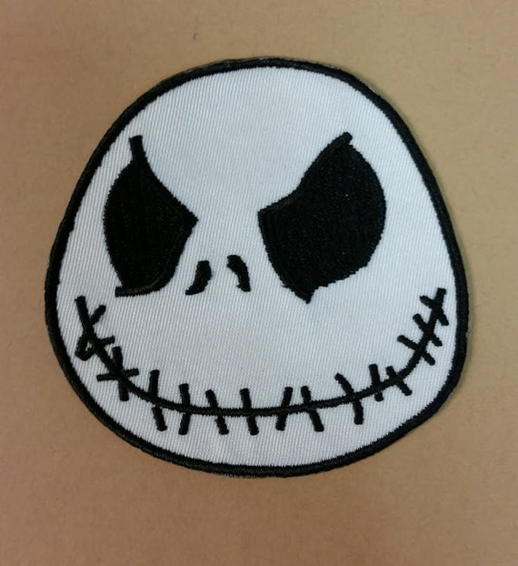 Halloween Skeleton Fanwear Applique Patch, Christmas Skeleton Iron On Patch, Nightmare Patch, Fun Jack Patch