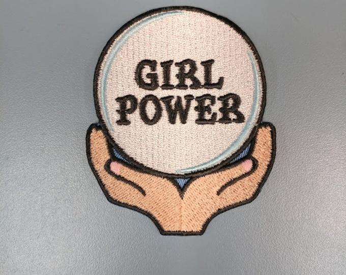 Girl Power Embroidered Patch,  Girl Power Iron On Patch