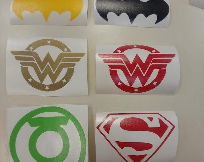 Superhero Car Decals, Superhero Vinyl Decals Laptop, Superhero Inspired Decals