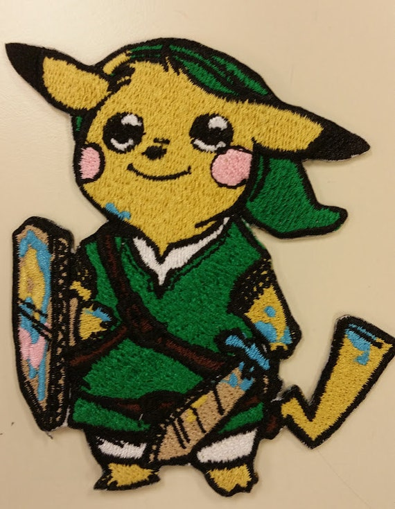 Crossover Gamer Embroidered Patch,  Anime Cartoon Character and Elf Game Character Mashup Iron On Patch, Fandom Patch