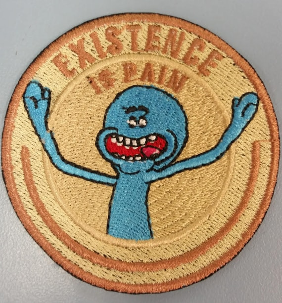 Existence Embroidered patch,  Cartoon Iron on alien character patch