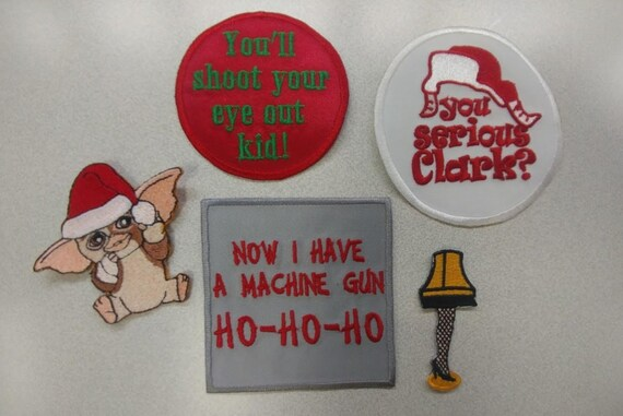 Christmas Embroidered Patch Bundle, 80's Movies Christmas Iron On Patch Set