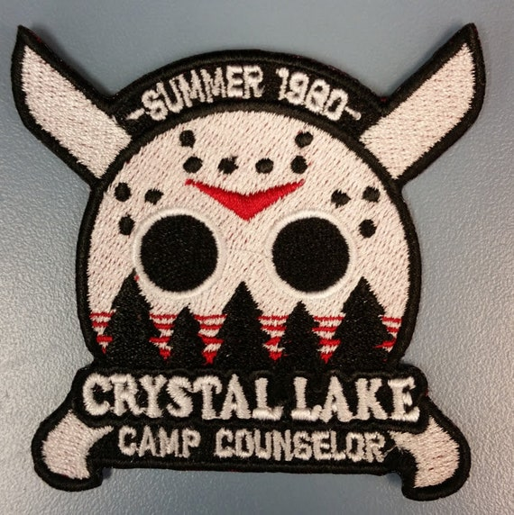 Horror Movie Cult Classic Embroidered Patch, Camp Counselor Scary Film Iron On Patch
