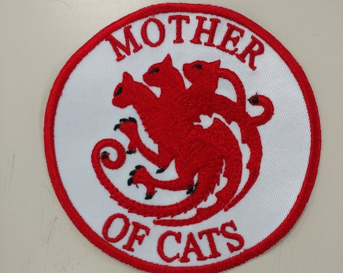 Mother of Cats Embroidered Patch