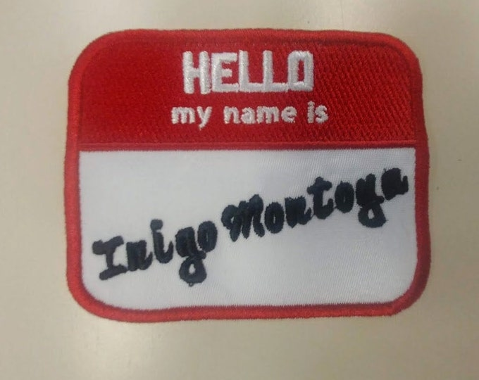 Hello My name is....classic movie character embroidered patch
