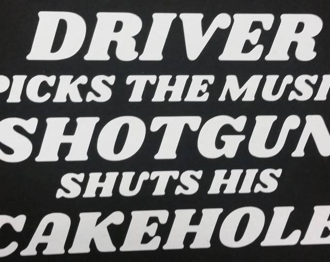 Funny saying sci fi horror decal TV show inspired car decal