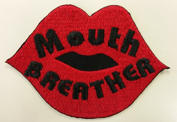 Mouth Breather Embroidered Patch,  Eleven Saying Iron On Patch,  TV inspired Embroidered patch