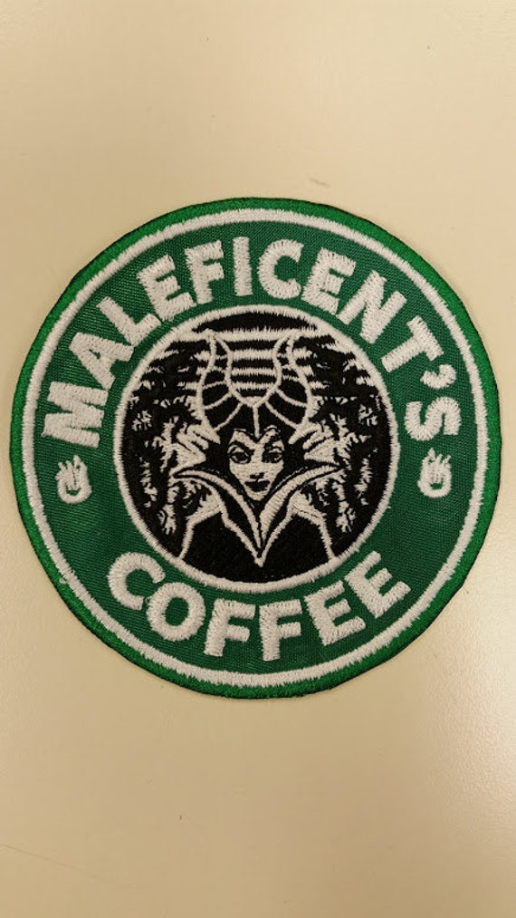 Villain Coffee Spoof Embroidered Patch,  Evil Queen Spoof Coffee Patch, Wicked Queen Coffee Patch, Iron On Fanwear