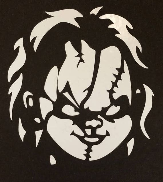 Killer Doll Vinyl Decal, Horror Movie Doll Vinyl Decal