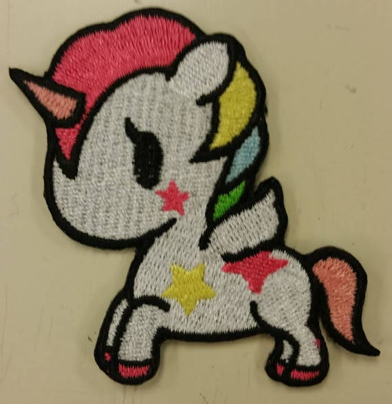 Rainbow Unicorn Embroidered Patch,  Cute Unicorn Iron On Patch