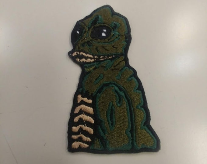 Reptile Human Creature Embroidered Patch