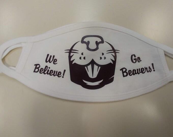 Bluefield Beaver Face Mask, Beaver cotton mask