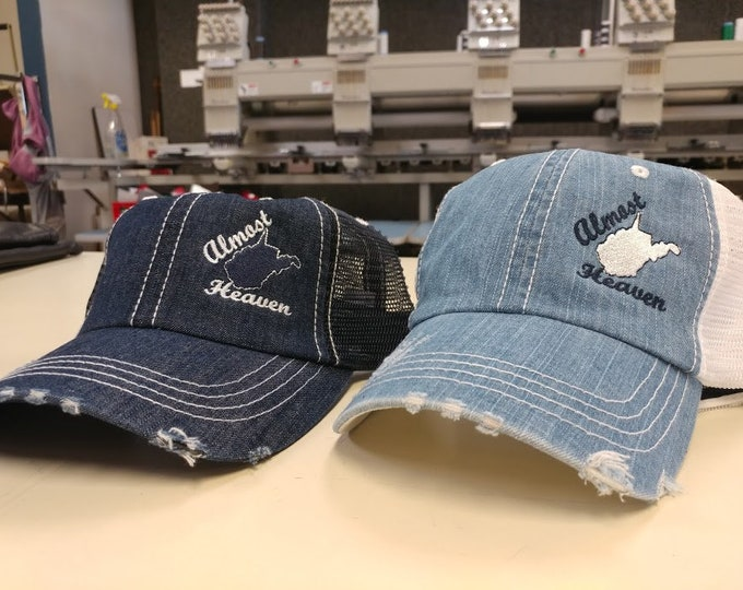 Almost Heaven Denim Hats, West Virginia State Caps