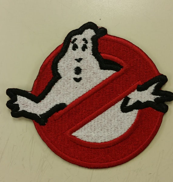 Ghost Fighter Iron On or Sew On Embroidered Patch, Cosplay Patch, Ghost Embroidered Patch, Fun Novelty Patch