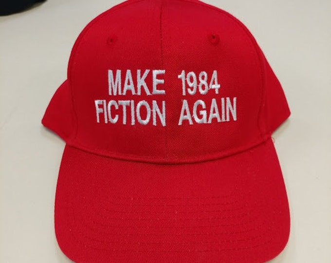 Make 1984 Fiction Again Red Hat, Literature Fan Gift