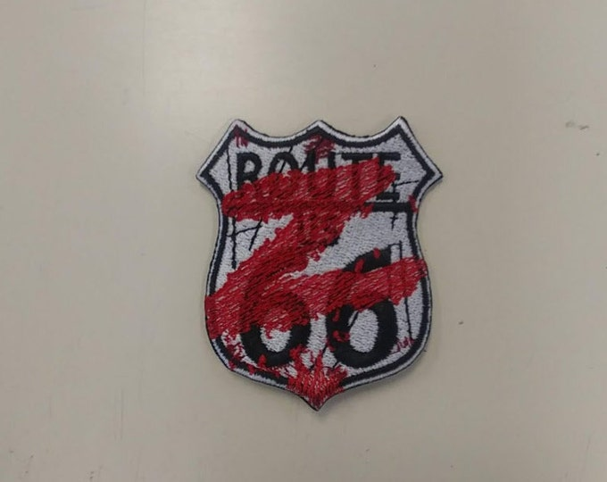 Route 66 Zombified Embroidered Patch