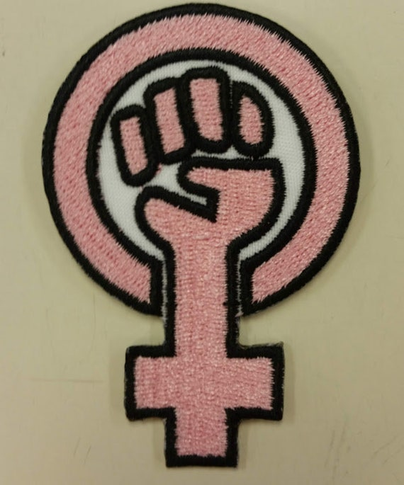 Feminist Symbol Embroidered Patch, Girl Power Iron On Patch