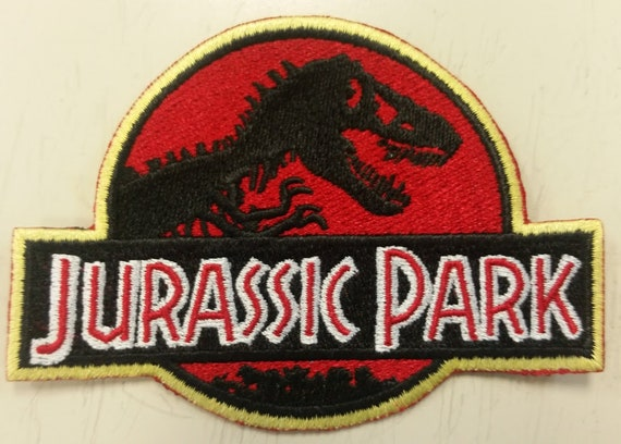 Dinosaur Zoo Embroidered Patch, Iron On T-Rex Patch, Cosplay Zookeeper Patch
