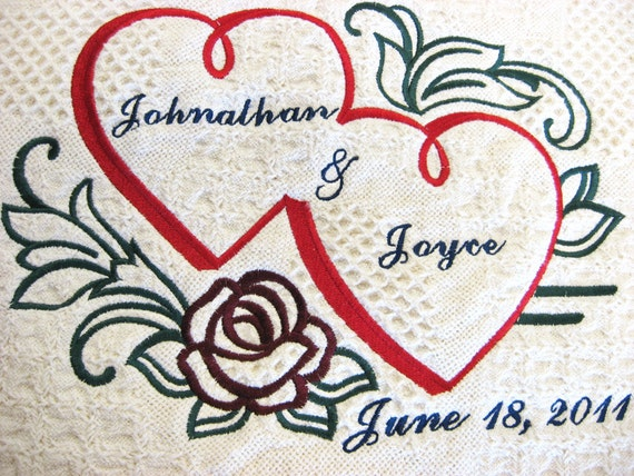 Personalized Wedding or Anniversary Keepsake Throw