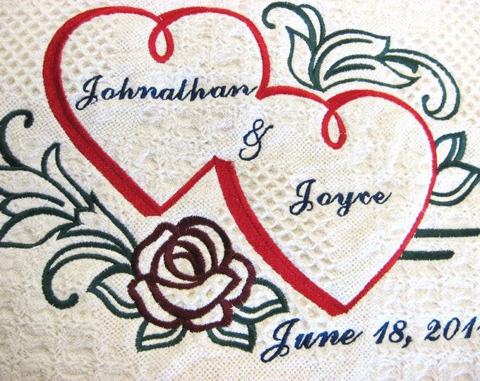 Personalized Wedding or Anniversary Keepsake Throw