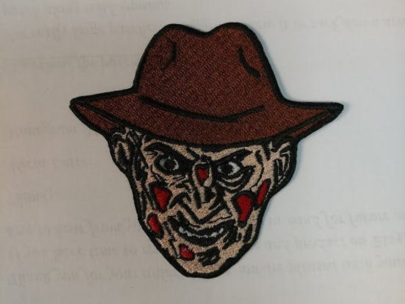 Scary Killer Dream Man Embroidered Patch, Iron On Horror Fanatic Patch