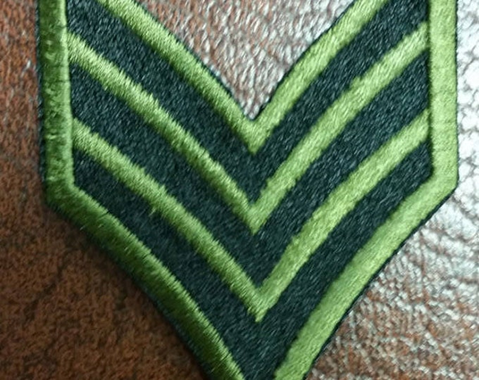 Sergeant At Arms Embroidered Patch, Iron On Sergeant Patch, Sergeant Stripes Embroidered Patch