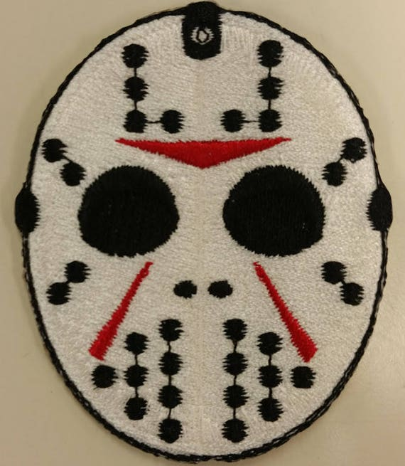 Horror Movie Embroidered Patch, Scary Killer Iron On Patch, Hockey Mask Patch, Slasher Movie Patch, 80's Movie Patch