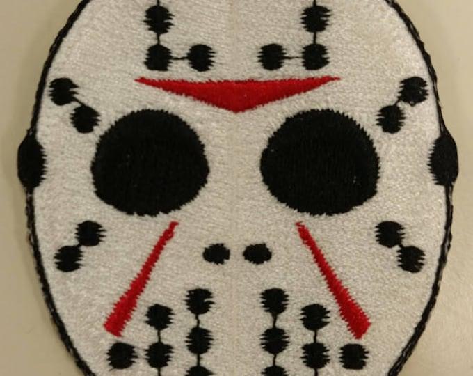 Horror Movie Embroidered Patch, Scary Killer Iron On Patch, Hockey Mask Patch, Slasher Movie Patch, 80's Movie Patch