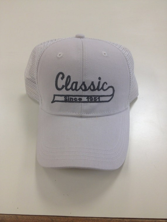 Classic Gift for Dad, Trucker Style Cap for Dad on Father's Day or His Birthday, Embroidered Mesh Hat for Dad Celebrating His Year of Birth
