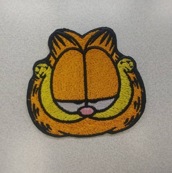 Lazy Cartoon Cat Embroidered Patch