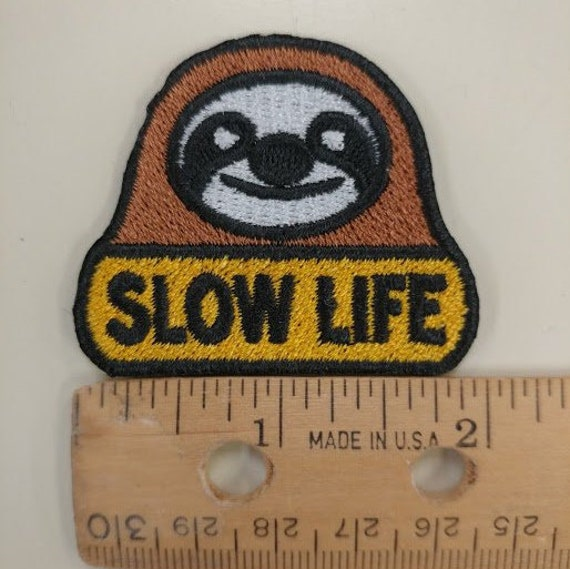 Sloth Embroidered Patch, Small Sloth Iron On Patch
