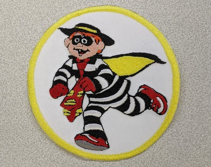 Food Thief Cartoon Character Embroidered Patch