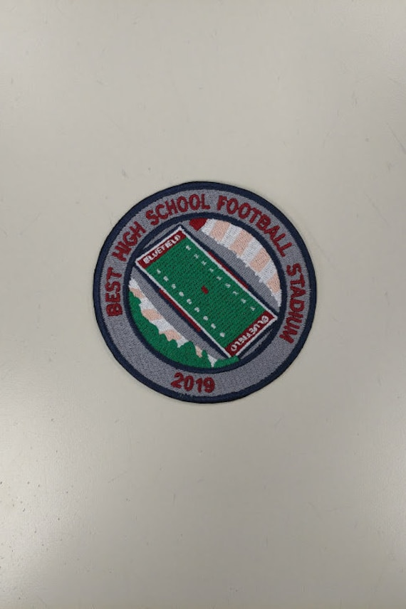 2019 America's Best High School Football Stadium Embroidered Patch, Mitchell Stadium Bluefield Patch