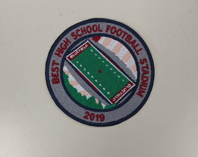 2019 America's Best High School Football Stadium Embroidered Patch, Mitchell Stadium Bluefield Patch