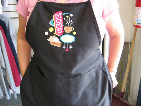Mom's Diner Apron, Birthday Present, Mother's Day Idea, Mom's Apron, Mom's Birthday Present, Full Length Apron