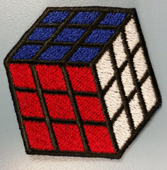 Rubix Cube Embroidered Patch, Iron On Rubix Cube patch