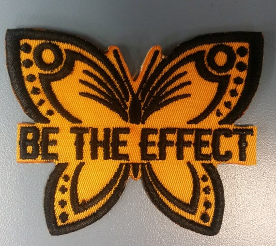 Be the effect embroidered patch, Butterfly applique iron on patch