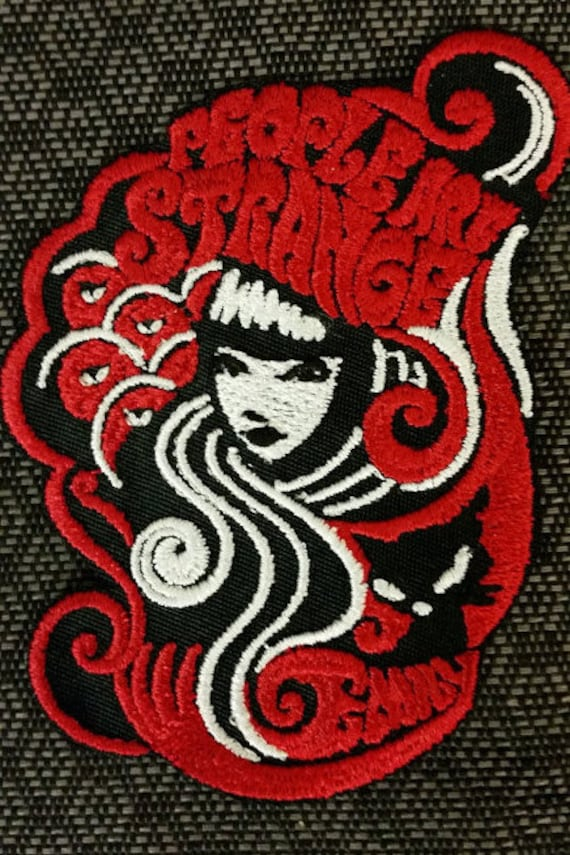 Strange Girl Embroidered Iron On Patch,  People are strange embroidered patch, Iron On Patch