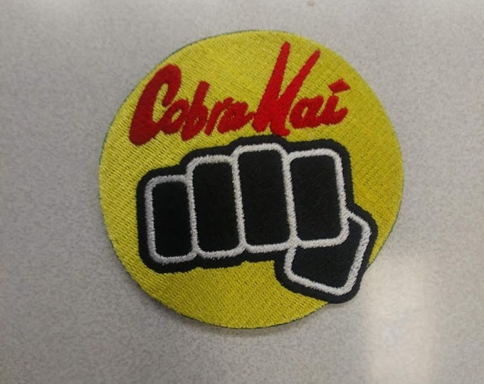 Martial Arts Fist Fandom Embroidered Patch