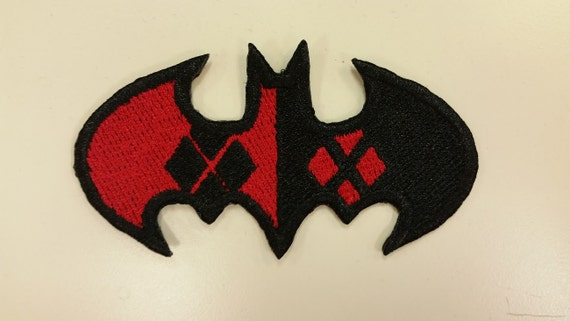 Female Comic Villian Inspired Bat Patch, Bat Hero Oval Patch, Iron On Superhero Comic Book Embroidered Patches, Fanwear Patches