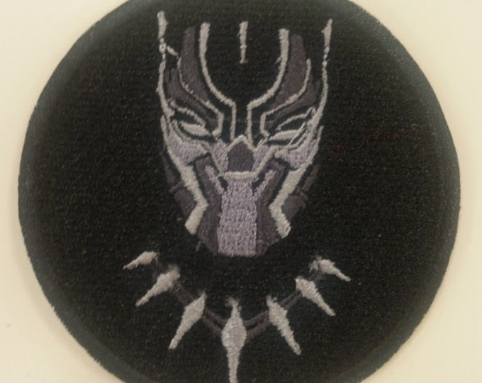 Superhero Embroidered Patch, Panther Hero Patch, Iron On Hero Patch