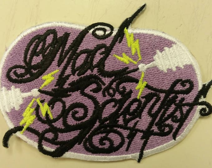 Mad Scientist Embroidered Patch, Iron On Mad Scientist Patch